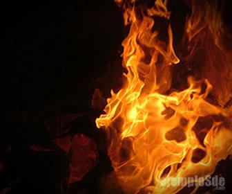 La combustión despide una gran cantidad de energía química