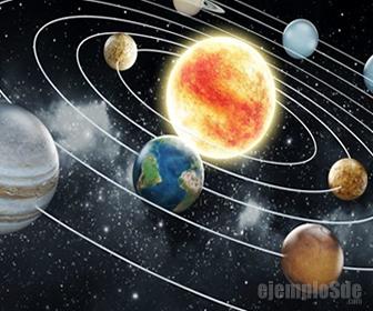 Fuerza centrifuga en el sistema solar