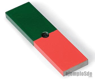 Polos de un imán: Norte (rojo) y Sur (azul)