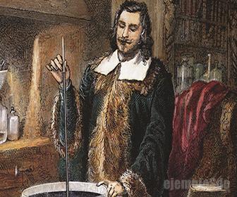 Evangelista Torricelli con su Barómetro