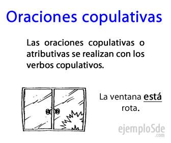 Las oraciones copulativas igualan al sujeto con el predicado por medio del verbo.