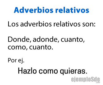 Adverbios relativos