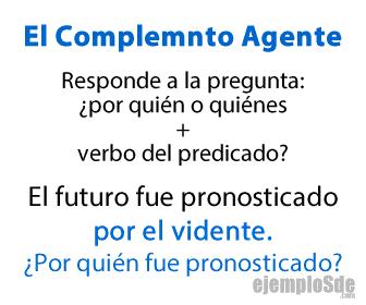 El complemento agente responde a la pregunta por quién o quiénes.
