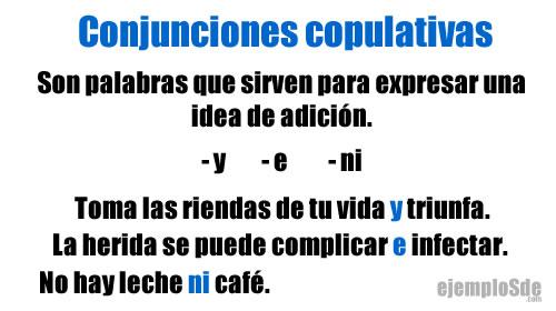 Conjunciones copulativas