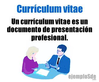 El currículum es una hoja de presentación profesional y laboral.