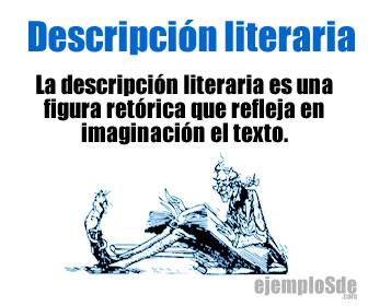 La descripción literaria o descripción subjetiva es un tipo de figura retórica o recurso literario que sirve para representar con palabras una imagen.