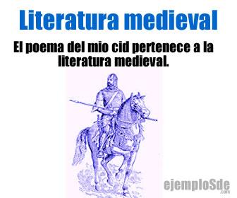 Se conoce como literatura medieval a diversos textos literarios escritos dentro de la etapa histórica conocida como edad media o medievo