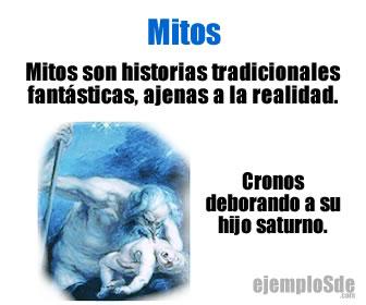 Mitos son historias tradicionales fantásticas, ajenas a la realidad.