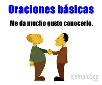 Las oraciones básicas, en el idioma español, son aquellas frases u oraciones cortas y simples.