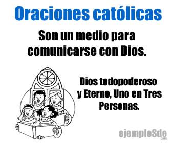 Las oraciones católicas son prácticas religiosas para un medio para la comunicación con Dios.