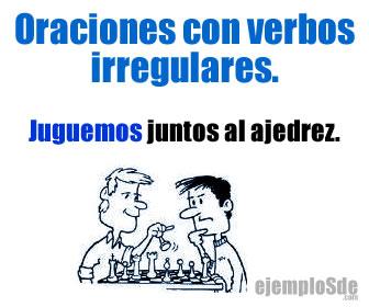 Las oraciones con verbos irregulares, presentan uno o dos o más verbos que se conjugan en diferentes tiempos y personas verbales.