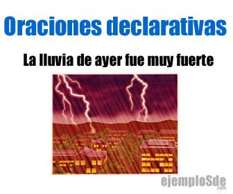 Las oraciones declarativas son aquellas que sirven para decir, comunicar o declarar un hecho, acción o pensamiento.