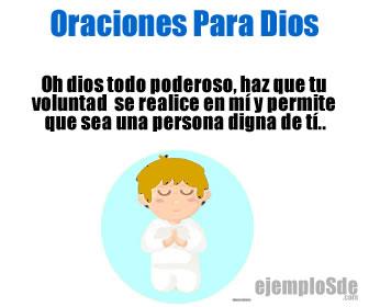 Las oraciones de Dios son las oraciones que dirigimos directamente a Dios Nuestro señor