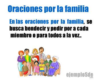 Las oraciones por la familia, sirven para pedir por nuestros enfermos o nuestros familiares en lo particular o en general.