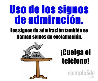 Uso De Los Signos De Admiración