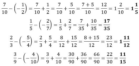 Ejemplos de resta de fracciones