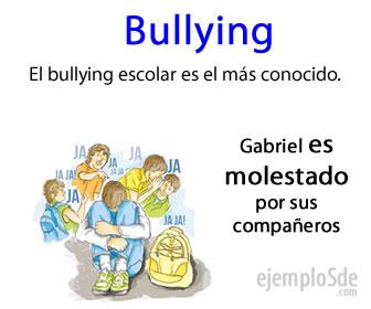 El bullying es violencia física o psicológica