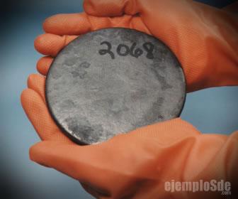 Actínido plutonio en estado puro