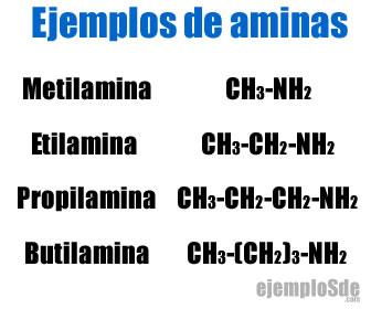 Ejemplos de aminas