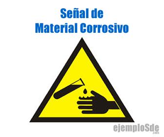 Señal de Material Corrosivo