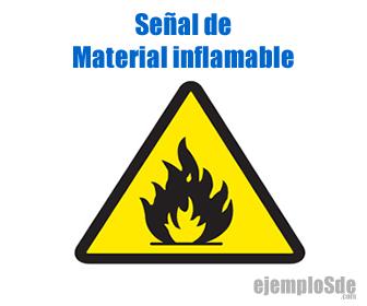 Señal de inflamabilidad de los materiales