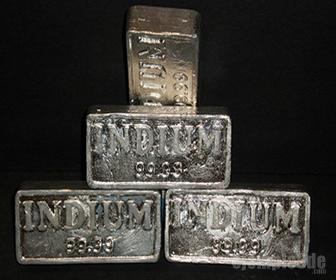 Lingotes de elemento indio